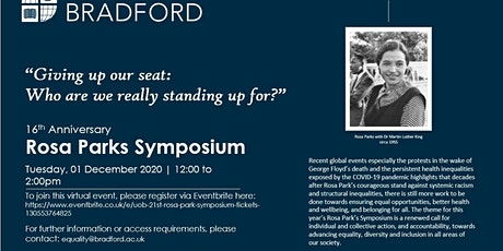 UoB: 16th  Rosa Park Symposium tickets