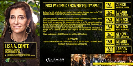 Post Pandemic Recovery Equity SPAC - Zurich 1/12 tickets