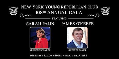 NYYRC 108th Annual Gala with Sarah Palin & James O'Keefe tickets