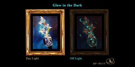Sip and Paint (Glow in the Dark): Galaxy Bottle (2pm Saturday) tickets