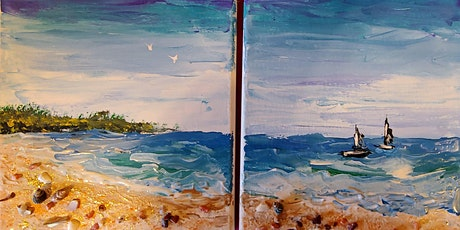 ONLINE: Acrylic Knife Painting, FUN in the SUN w Instructor Julie Schroeder tickets