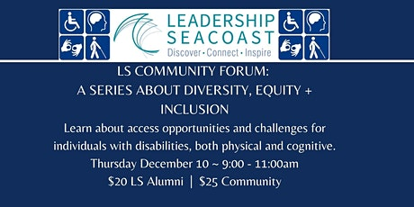 LS Community Forum: A Series About Diversity, Equity + Inclusion tickets