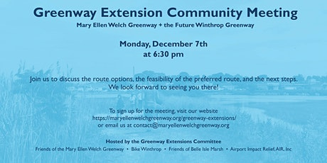Mary Ellen Welch Greenway and Future Winthrop Greenway Community Meeting tickets
