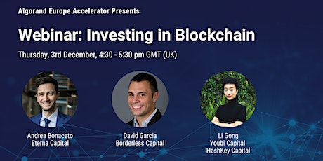 Algorand Europe Accelerator Presents: Investing in Blockchain tickets