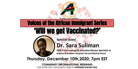 Voices of the African Immigrant Series: Will we get vaccinated? tickets