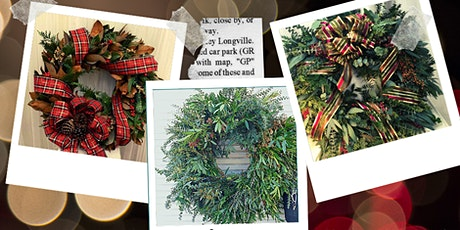 Create your own unique Christmas Wreath tickets