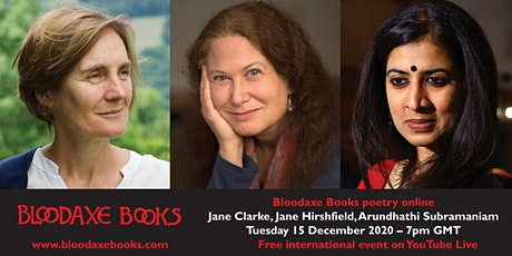 International launch: Jane Clarke, Jane Hirshfield, Arundhathi Subramaniam tickets