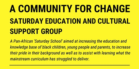 A Community For Change: Saturday School tickets