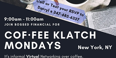 Cof·fee Klatsch for Small Businesses (Virtual Networking) - NYC, NY tickets