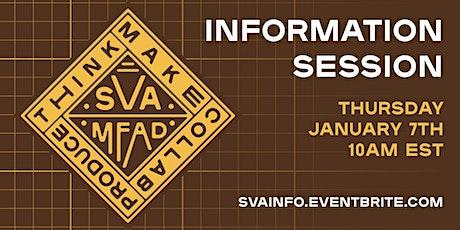 SVA MFA Design Information Session January tickets