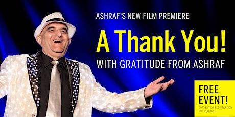 Ashraf's Film Premiere at the Virtual SEAOC Convention tickets
