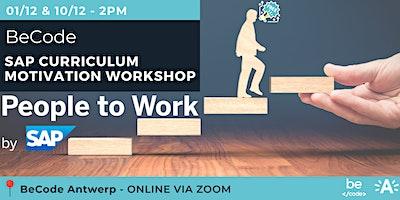 SAP Curriculum presentation + Motivation workshop by BeCode Antwerp