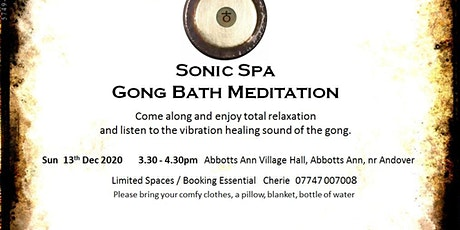 Sonic Spa Gong Bath Meditation (Session 2)- 13th December 2020 tickets