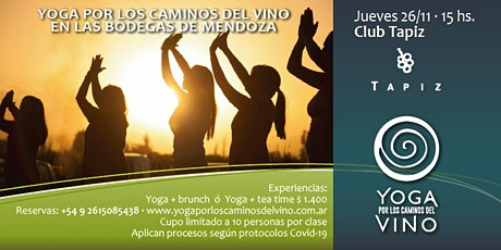 Yoga por los Caminos del Vino + tea time en CLUB TAPIZ entradas