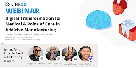 Digital Transformation for Point of Care & Medical Device 3D Printing tickets