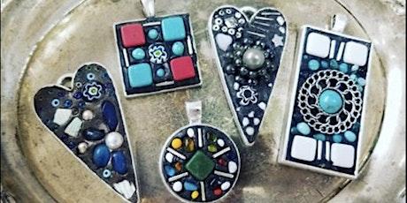 Mosaic Jewelry Making via Zoom  with kits tickets