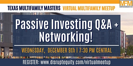 Passive Investing Q&A + Networking! tickets