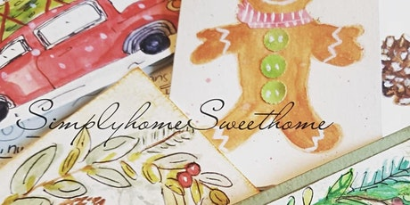 Intro to Watercolors creating holiday Greeting Cards Zoom with kits tickets