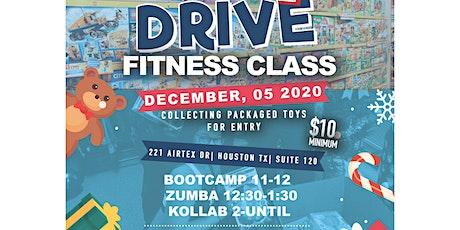 Toy drive Zumba class tickets