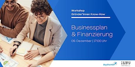 Gründer und Gründerinnen Know-How | Businessplan und Finanzierung Tickets