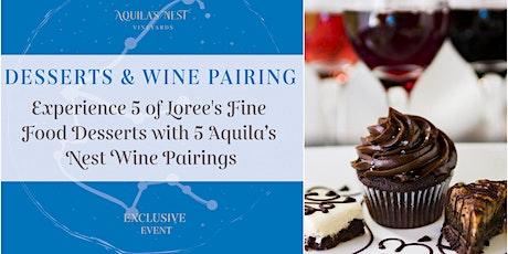 Fine Desserts and Wine Pairing tickets