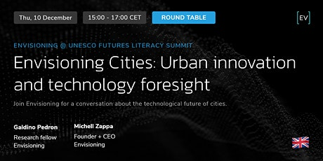 Round Table | The Future of Cities and technology foresight tickets