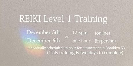 REIKI  Level 1 traing tickets