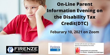 On-Line Parent Information Evening on the Disability Tax Credit(DTC) tickets