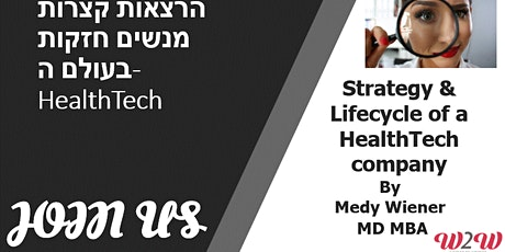 Strategy & Lifecycle of a HealthTech company tickets