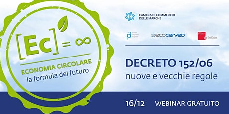 Webinar Economia Circolare I Decreto152/06:  nuove e vecchie regole tickets