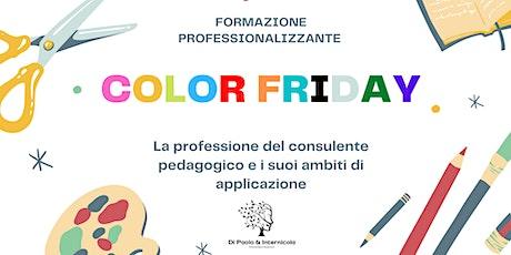 La professione del consulente pedagogico e i suoi ambiti di applicazione biglietti