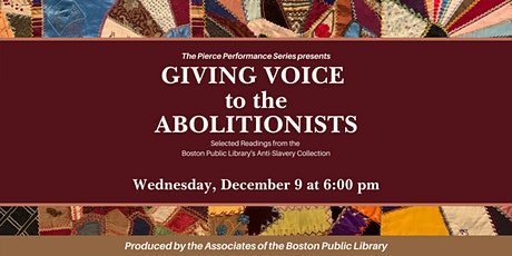 Giving Voice to the Abolitionists tickets