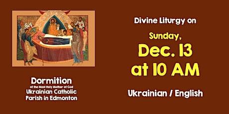 Divine Liturgy at Dormition December 13 tickets
