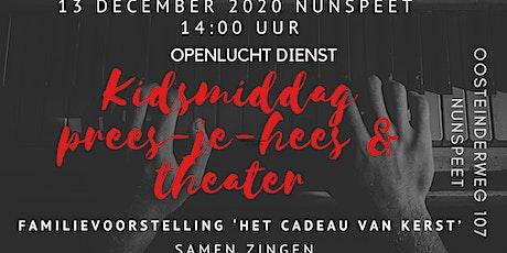 kidsmiddag prees-je-hees & theater 'het cadeau van kerst' Nunspeet tickets