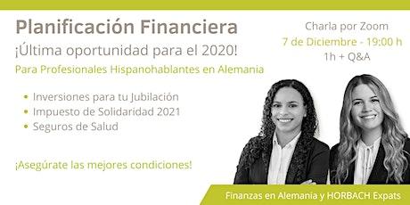 Última Oportunidad 2020- Planificación Financiera entradas