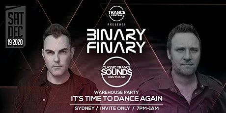 Classic Trance Sounds with Binary Finary tickets