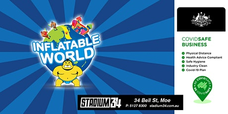 INFLATABLE WORLD GIPPSLAND  - Session Tickets tickets