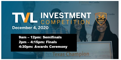 Texas Venture Labs Investment Competition - Fall 2020 tickets