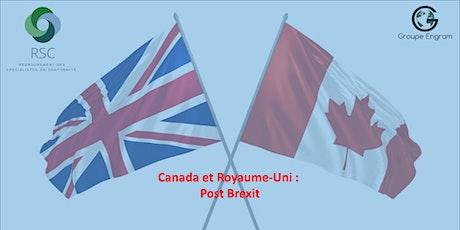 Webinaire Canada et Royaume-Uni : post Brexit billets
