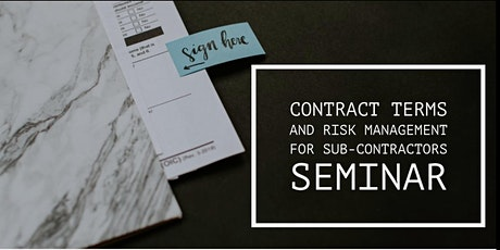Contract Terms and Risk Management for Sub-contractors tickets