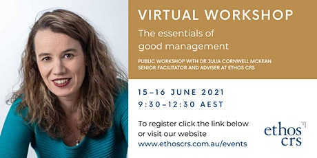 The essentials of good management – June tickets