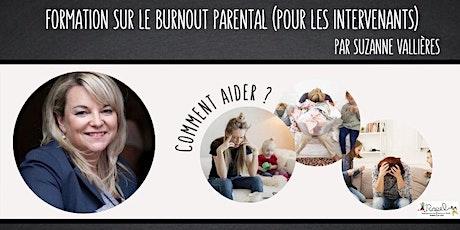 Formation sur le burnout parental pour les intervenants tickets