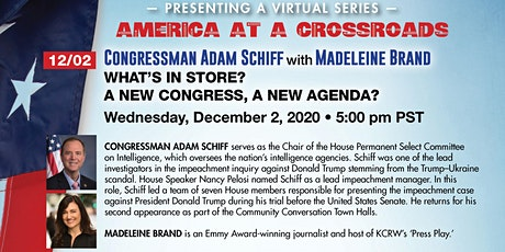 Congressman Adam Schiff: What's in Store? A New Congress, A New Agenda? tickets