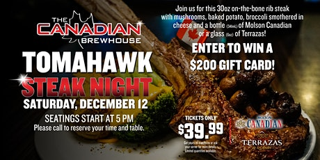 Tomahawk Steak Night (Chestermere) tickets