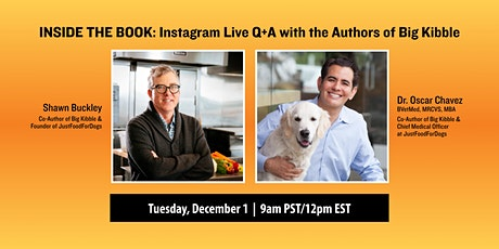 Inside the Book: Instagram Live Q+A with the Authors of Big Kibble tickets