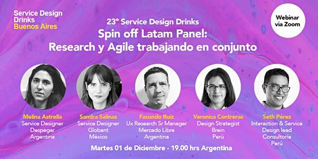 Spin Off Latam Panel: Research & Agile trabajando en conjunto tickets