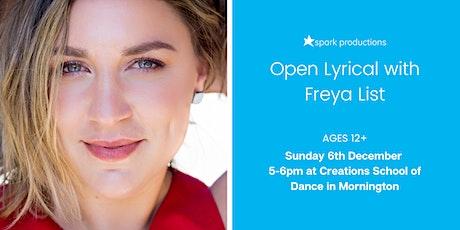 Lyrical Open Class with Freya List tickets