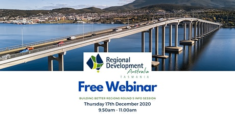 Building Better Regions Fund (BBRF) Round 5 - Information Webinar tickets