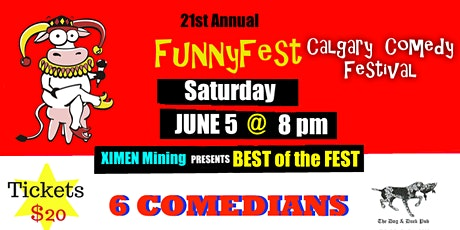 "SATURDAY, June 5 @ 8 pm - ""BEST of the FEST"" - Dog Duck Pub - FUNNYFEST tickets"