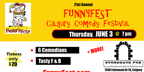 Thursday, June 3, 2021 @ 7 pm - Festival Favourites - 20th Annual FunnyFest tickets